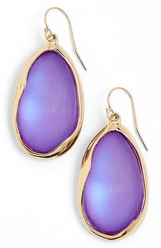 Alexis Bittar Alexis Bittar'Lucite® - Liquid Metal' Oval Drop Earrings available at #Nordstrom