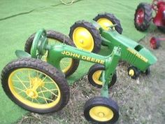 John Deer tractor form old sewing machine.