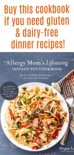 "Why I Made ""An Allergy Mom's Lifesaving Instant Pot Cookbook"" + Giveaway! Easy Weeknight Meals, Easy Dinners, Top Food Allergies, Eos, Best Cookbooks, Quick Easy Dinner, Healthy Salad Recipes, Lunch Recipes, Allergy Free Recipes"