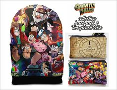SALE gravity falls backpack and  and two pencil case