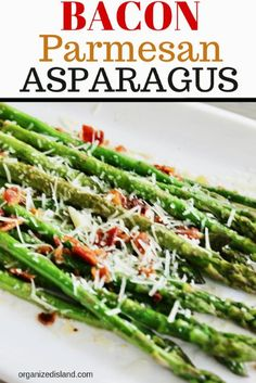 Bacon Parmesan grilled asparagus is a delicious side dish recipe for dinner, brunch or lunch. Made on the stove top in minutes, it is my best asparagus recipe. Easy Vegetable Side Dishes, Best Side Dishes, Healthy Side Dishes, Side Dish Recipes, Vegetable Recipes, Dinner Recipes, Potato Recipes, Pasta Recipes, Soup Recipes