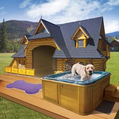 Are you caring for your canines? Looking to pamper your pooch with the fantasy and luxury dog house? Here we have listed the top 10 luxury dog houses you need to see. Cool Pets, Cute Dogs, Cool Dog Beds, Luxury Dog House, House Dog, Dog House Plans, Cool Dog Houses, Amazing Dog Houses, Awesome House