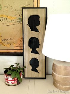 Simple instructions to make a silhouette plaque of your kids' profiles out of wood! {Sawdust and Embryos}