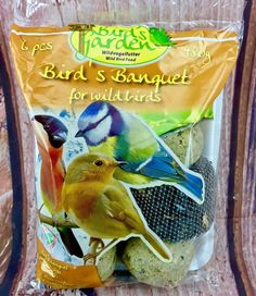 Wild Bird Food Birds Banquet 6 Separate Pieces Pack Peanuts Seeds Fat Balls for sale online Wild Bird Food, Wild Birds, Snack Recipes, Snacks, Banquet, Seeds, Animals, Products, Snack Mix Recipes