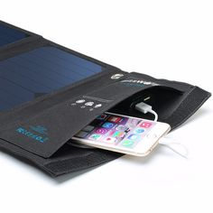 BlitzWolf® 20W 3A BW-L1 Foldable Portable SunPower Solar Charger USB Solar Panel Charger with Power3S for iPhone 6s / 6 / Plus, iPad Air / mini, Galaxy S6 and More