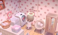 Not my town or picture but super cute acnl laundry area!