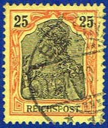 Germany 57 Stamp - Germania Stamp - EU GER 57-2 USED