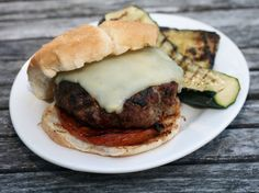 Italian Meatball Burgers with Grilled Tomatoes
