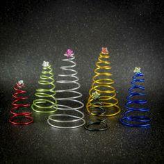 #Weihnachtsbäume aus #Draht #Deko #Weihnachten