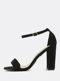 Online shopping for Faux Suede Chunky Heels BLACK from a great selection of women's fashion clothing & more at MakeMeChic.COM.