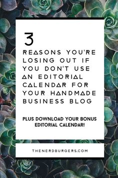 3 reasons you're losing out if you don't have an editorial calendar for your handmade business blog: What is 'content marketing' and how can you do it to make my readers fall in love with you, boost your traffic and increase sales? Click through to read my top 3 content marketing secrets and why using an editorial calendar is a must to achieve your blogging goals and drive more traffic to your handmade shop!