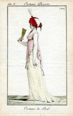 Costume Parisien. Love the turban, love the over dress.