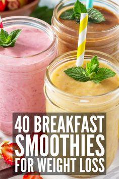 Simple Meal Prep: 40 Make Ahead Breakfast Smoothies for Weight Loss - Smoothies Diet Weight Loss Weight Loss Meals, Weight Loss Drinks, Healthy Weight Loss, Weight Gain, Shakes For Weight Loss, Need To Lose Weight, Lose Weight At Home, Breakfast Smoothies For Weight Loss, Weight Loss Smoothies