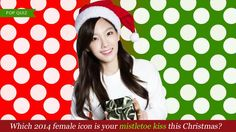 [Which 2014 female icon is your mistletoe kiss this Christmas?   allkpop.com] I got Taeyeon!