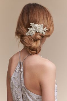 BHLDN Shimmering Blooms Comb in  Bride Bridal Shoes & Accessories Veils & Headpieces | BHLDN