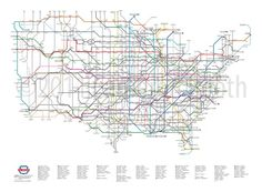 pretty reimagining of US roads in subway train template.
