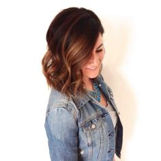 Lob or long bob with soft ombre or sombre colour.