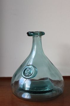 Vintage Ole Winther HOLMEGAARD Fat Viking Decanter Icy by foxbride