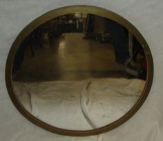 Plywood Circle Mirror (throne room)
