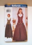 Butterick Sewing Pattern 5832 Vest Blouse Skirt Costume Formal Sizes 8-12