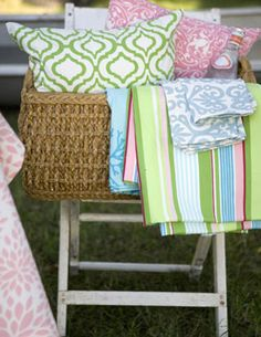 Browse Our Line of Cotton Tablelinens, Pillows and Guest Towels  Henhouse Linens-Just lovely!!