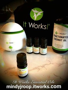 Yes!!! Pure oil blends amazing diffuser u can take even in your car! We also have fractionated coconut oil so u can rub these four blends all over yourselves :) Order your oils today with me at mindyjroop.itworks.com