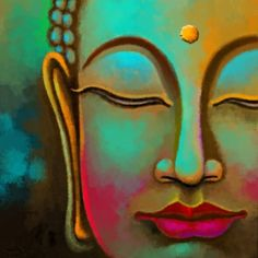 Tree Canvas, Diy Canvas, Canvas Wall Art, Canvas Ideas, Buddha Kunst, Buddha Art, Buddha Drawing, Buda Painting, Disney Canvas Paintings