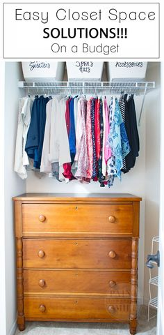 Great inexpensive tips & ideas to make the most of my closet.Maximize Your Closet Space on a Budget Kid Closet, Closet Bedroom, Closet Ideas, Attic Closet, Diy Home Decor Bedroom, Diy Home Decor On A Budget, Bedroom Ideas, Teen Closet Organization, Organization Ideas