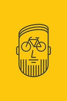 Bicycle Graphic Design — cadenced: Bikeface by Craft And Graft Velo Design, Bicycle Design, Bike Logo, Bike Illustration, Bike Poster, Bear Wallpaper, Bicycle Art, Bicycle Shop, Cycling Art