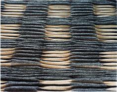 'PIRK' textile (1999) by German handweaver & textile designer Andreas Möller. via the designer's site