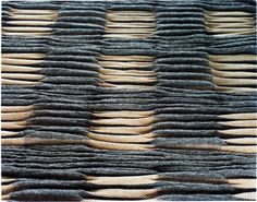 'PIRK' textile (1999) by German handweaver & textile designer Andreas Möller. via the designer's site