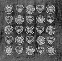 1950s Swedish embroidery hearts | Flickr - Photo Sharing!