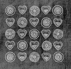 1950s Swedish embroidery hearts