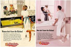"""Eli Rezkallah highlights sexism in a photo series called """"In a Parallel Universe"""" that reimagines sexist ads from the with the gender roles reversed. Photomontage, Mode Vintage, Vintage Ads, Desenhos Love, Gender Roles, Gender Issues, Parallel Universe, Photo Series, Perfect Woman"""
