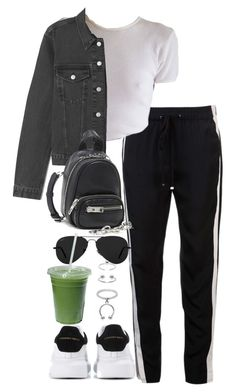 """Untitled #5456"" by theeuropeancloset ❤ liked on Polyvore featuring 3.1 Phillip Lim, Alexander Wang, Alexander McQueen, Ray-Ban and Maria Francesca Pepe"