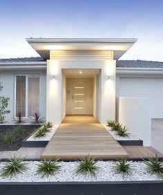 Modern Home Entrance, Modern Walkway Modern Landscaping Landscaping Network  Calimesa, CA #modernhomeentrance