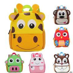 Children 3D Cute Animal Design Backpack Toddler Kid cute zoo School Bags  Kindergarten Cartoon Comfortable Bag d4bdb4abb1f57