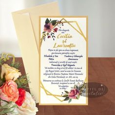 Invitatie nunta Apus printre ramuri