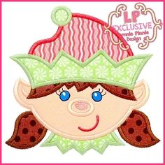 Happy Elf Girl Applique - 4 Sizes! | What's New | Machine Embroidery Designs | SWAKembroidery.com Lynnie Pinnie