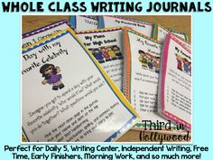 Whole Class Writing Journals