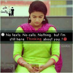 Always thinking abt u mah idt....miss u worstly...