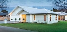 Signature Homes is one of the leading home builders in New Zealand. When it comes to house plans NZ and new house builders NZ Building Design, Building A House, Roof Cladding, Roof Shapes, New Zealand Landscape, Passive Solar, Spanish House, Moving House, Types Of Houses