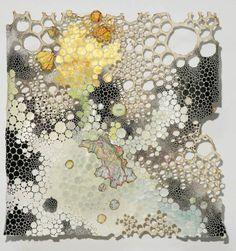 Papier in de herkansing: Paper art, Karen Margolis Growth And Decay, Textiles, Alcohol Ink Art, Gcse Art, Natural Forms, Textile Art, Fiber Art, Cool Art, Art Pieces