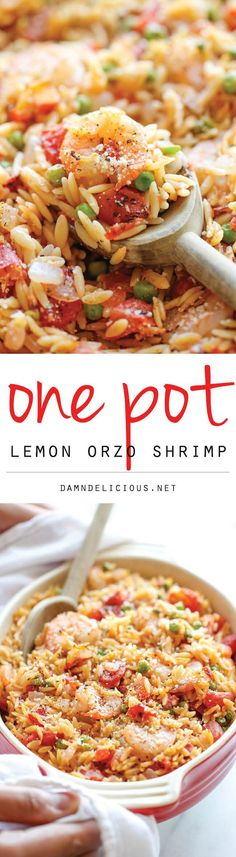 awesome One Pot Lemon Orzo Shrimp - Damn Delicious
