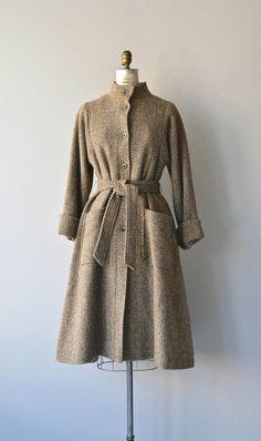 Levy Tweed princess trench coat vintage tweed wool by DearGolden