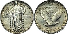 1916 - 1930 : Standing Liberty Quarter - U.S. Junk Silver Coins