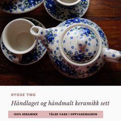 Nydelig håndlaget og håndmalt keramikk sett💞 Bruk den til te, kaffe eller gløgg✨✨ Hygge, Tableware, Dinnerware, Tablewares, Dishes, Place Settings