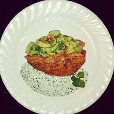 """8 Likes, 1 Comments - Mike Streibel (@m_r_s1861) on Instagram: """"Peruvian Chicken w/Cucumber & Avocado Salad"""""""