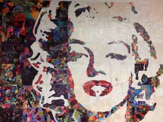 Marilyn Monroe collage project Anclote HS commercial art 4 x 6 feet