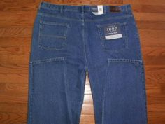 NEW! BIG MENS 48x32 IZOD blue DENIM JEANS pants CLASSIC FIT NWT $55